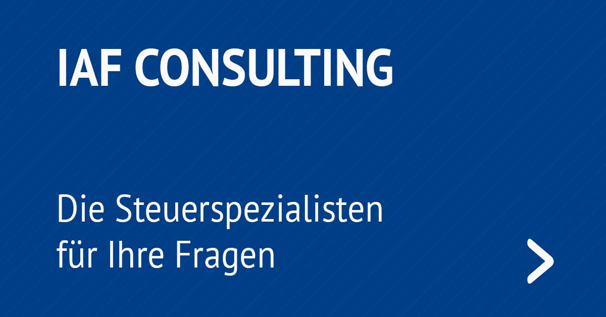 IAF Consulting - die Steuerspezialisten für Ihre Fragen