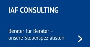 IAF Consulting - Berater für Berater - unsere Steuerspezialisten
